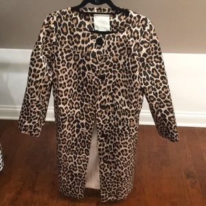 Never worn! NWT Kate Spade Leopard Trench Coat
